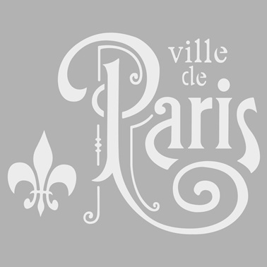 Artikel Paris 2 Stencil Tasarımı 30 x 30 cm Renkli